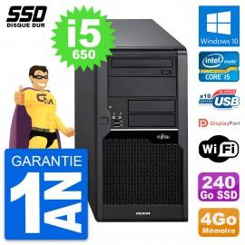 PC Tour Fujitsu Celsius W280 Intel Core i5-650 RAM 4Go SSD 240Go Windows 10 Wifi