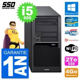 PC Tour Fujitsu Celsius W280 Intel Core i5-650 RAM 4Go SSD 2To Windows 10 Wifi
