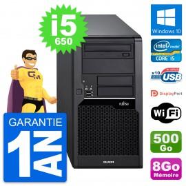 PC Tour Fujitsu Celsius W280 Intel i5-650 RAM 8Go Disque 500Go Windows 10 Wifi
