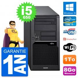 PC Tour Fujitsu Celsius W280 Intel i5-650 RAM 8Go Disque Dur 1To Windows 10 Wifi