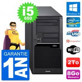 PC Tour Fujitsu Celsius W280 Intel i5-650 RAM 8Go Disque Dur 2To Windows 10 Wifi