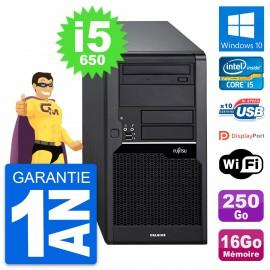 PC Tour Fujitsu Celsius W280 Intel i5-650 RAM 16Go Disque 250Go Windows 10 Wifi