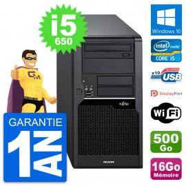 PC Tour Fujitsu Celsius W280 Intel i5-650 RAM 16Go Disque 500Go Windows 10 Wifi