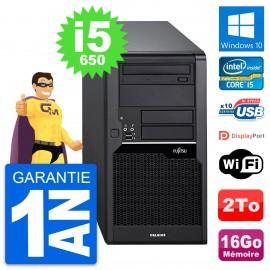 PC Tour Fujitsu Celsius W280 Intel i5-650 RAM 16Go Disque 2To Windows 10 Wifi