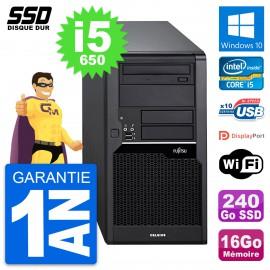 PC Tour Fujitsu Celsius W280 Intel i5-650 RAM 16Go SSD 240Go Windows 10 Wifi