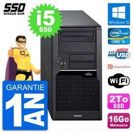 PC Tour Fujitsu Celsius W280 Intel Core i5-650 RAM 16Go SSD 2To Windows 10 Wifi