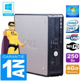 PC DELL 755 SFF Intel E6750 Ram 4Go Disque 250 Go Graveur DVD Wifi W7