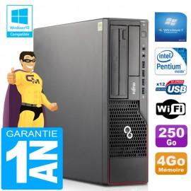PC Fujitsu Esprimo E700 E90+ SFF Intel G840 RAM 4Go Disque 250 Go Wifi W7