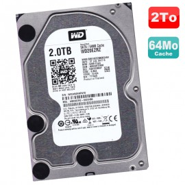 """Disque Dur 2 To SATA III 3.5"""" WD WD20EZRZ-00Z5HB0 Recertified 6Gbps 5400RPM 64Mo"""