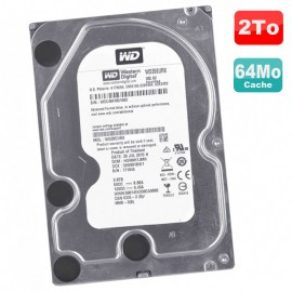 """Disque Dur 2 To SATA III 3.5"""" WD WD20EURX-73T0FY0 Recertified 6Gbps 5400RPM 64Mo"""