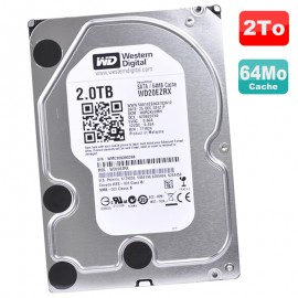 """Disque Dur 2 To SATA III 3.5"""" WD WD20EZRX-32SPEB0 Recertified 6Gbps 5400RPM 64Mo"""