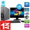 """PC Fujitsu Esprimo E700 E90+ SFF Core I5-2400 8Go Disque 500Go Wifi W7 Ecran 22"""""""