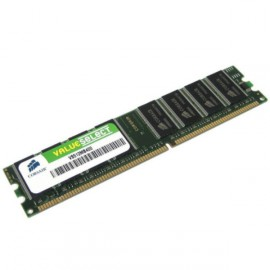 Ram Barrette Mémoire CORSAIR ValueSelect 512Mo DDR PC-3200 VS512MB400 Unbuffered