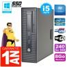 PC HP EliteDesk 800 G1 SFF Core I5-4570 8Go Disque 240Go SSD Graveur DVD Wifi W7