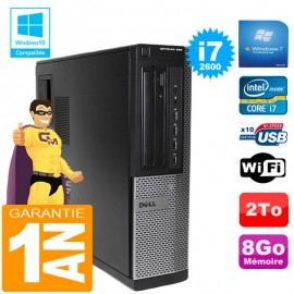 PC DELL Optiplex 990 DT Core I7-2600 Ram 8 Go Disque 2 To Graveur DVD Wifi W7
