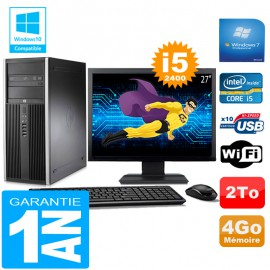 PC Tour HP Compaq 8200 Core I5-2400 Ram 4Go Disque 2 To Wifi W7 Ecran 27""