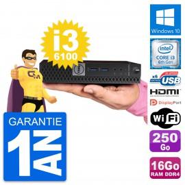 Mini PC Dell 7040 Micro Core i3-6100T RAM 16Go Disque 250Go HDMI Windows 10 Wifi