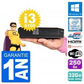 Mini PC Dell 7040 Micro Core i3-6100T RAM 32Go Disque 250Go HDMI Windows 10 Wifi
