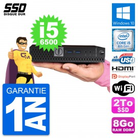 Mini PC Dell OptiPlex 7040 Micro i5-6500T RAM 8Go SSD 2To HDMI Windows 10 Wifi