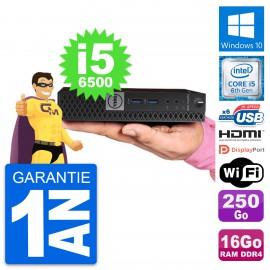 Mini PC Dell 7040 Micro Core i5-6500T RAM 16Go Disque 250Go HDMI Windows 10 Wifi