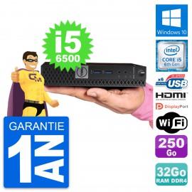Mini PC Dell 7040 Micro Core i5-6500T RAM 32Go Disque 250Go HDMI Windows 10 Wifi