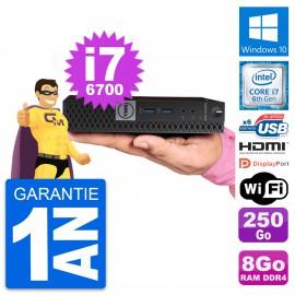 Mini PC Dell 7040 Micro Intel i7-6700T RAM 8Go Disque 250Go HDMI Windows 10 Wifi