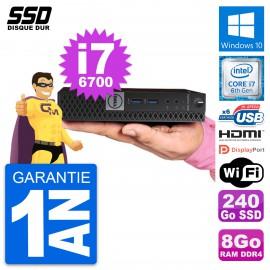 Mini PC Dell 7040 Micro Core i7-6700T RAM 8Go SSD 240Go HDMI Windows 10 Wifi