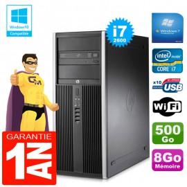 PC Tour HP Compaq 8200 Core I7-2600 Ram 8Go Disque 500 Go Graveur DVD Wifi W7