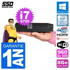 Mini PC Dell 7040 Micro Core i7-6700T RAM 8Go SSD 960Go HDMI Windows 10 Wifi