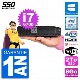Mini PC Dell OptiPlex 7040 Micro i7-6700T RAM 8Go SSD 2To HDMI Windows 10 Wifi
