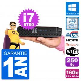Mini PC Dell 7040 Micro Core i7-6700T RAM 16Go Disque 250Go HDMI Windows 10 Wifi