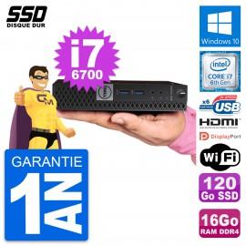 Mini PC Dell 7040 Micro Intel i7-6700T RAM 16Go SSD 120Go HDMI Windows 10 Wifi