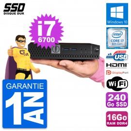 Mini PC Dell 7040 Micro Intel i7-6700T RAM 16Go SSD 240Go HDMI Windows 10 Wifi