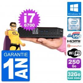Mini PC Dell 7040 Micro Core i7-6700T RAM 32Go Disque 250Go HDMI Windows 10 Wifi