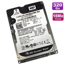 "Disque Dur 320Go SATA 2.5"" WD WD3200BEKT-75PVMT0 Black Scorpio 7200RMP 16Mo"