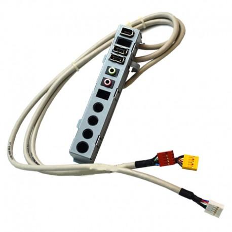 Front Panel HP 5188-8936 5022-8113 Pavillion Elite Presario 3x USB Audio IN/OUT