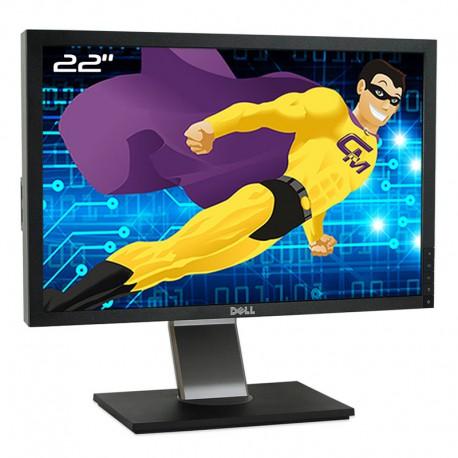 """Ecran Plat PC 22"""" DELL P2210t P2210f TFT TN VGA DVI-D Display 4xUSB 16:10 VESA"""