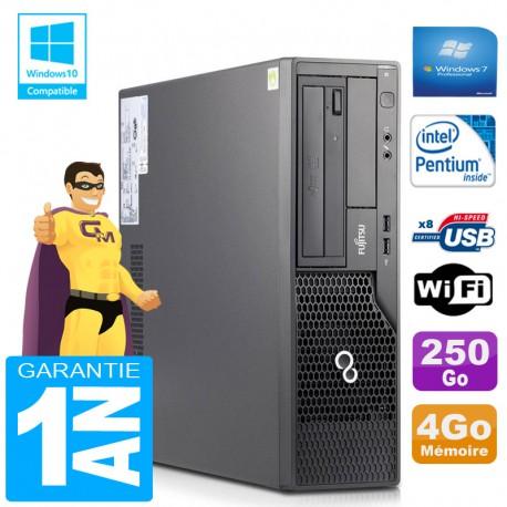 PC Fujitsu Esprimo E500 E85+ SFF Intel G640 RAM 4Go Disque 250 Go Wifi W7