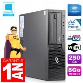 PC Fujitsu Esprimo E500 E85+ SFF Intel G640 RAM 8Go Disque 250 Go Wifi W7