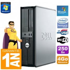 PC DELL Optiplex 320 DT Dual Core 4Go DVD 250Go Wifi Windows XP Pro