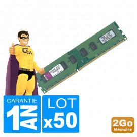 Lot 50 x 2Go RAM Kingston KVR1066D3N7/2G DDR3 PC3-8500 1066MHz 2Rx8 PC Bureau
