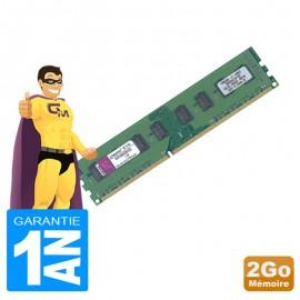 2Go RAM Kingston KVR1066D3N7/2G DDR3 PC3-8500 1066MHz 2Rx8 CL7 PC Bureau
