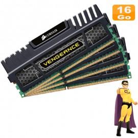 16Go RAM Corsair Vengeance CMZ16GX3M4A1600C9 (4x4Go) DDR3 12800U 2Rx8 PC Bureau