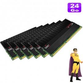 24Go RAM KINGSTON HyperX T1 KHX1600C9D3T1BK6/24GX (6 x4Go) DDR3 12800U 2Rx8 CL9