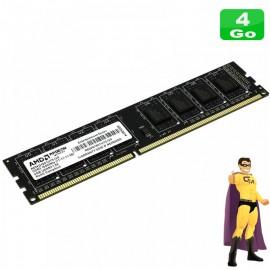 4Go RAM AMD Memory Radeon R534G1601U1S-UO DDR3 PC3-12800U 1Rx8 1600Mhz PC Bureau