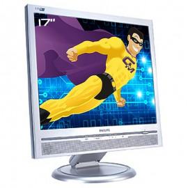 """Ecran PC Pro 17"""" PHILIPS 170B5CS A3KM129 LCD TFT VGA DVI-D Audio I/O VESA 5:4"""