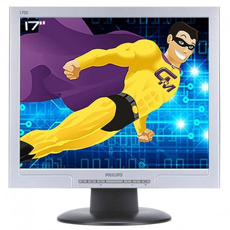 """Ecran Plat 17"""" LCD TFT TN PHILIPS 170S8FS HNS8170T VGA DVI-D 1280x1024 VESA Gris"""