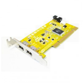 Carte adaptateur PCI 2x Port Firewire IEEE 1394 HP 441448-001 F5U515 Low Profile
