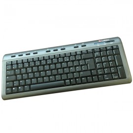 Clavier AZERTY Noir Argent USB Labtec Y-BM62 867531-0101 PC Keyboard 113 Touches