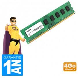 4Go RAM SQP S/AC-VER-M2610-4G DDR3 PC3L-10600U 1333Mhz 2Rx8 CL9 PC Bureau